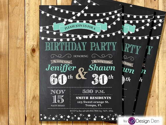 Combined Birthday Party Invitation Wording Best Of Joint Birthday Party Invitations for Adults Cobypic