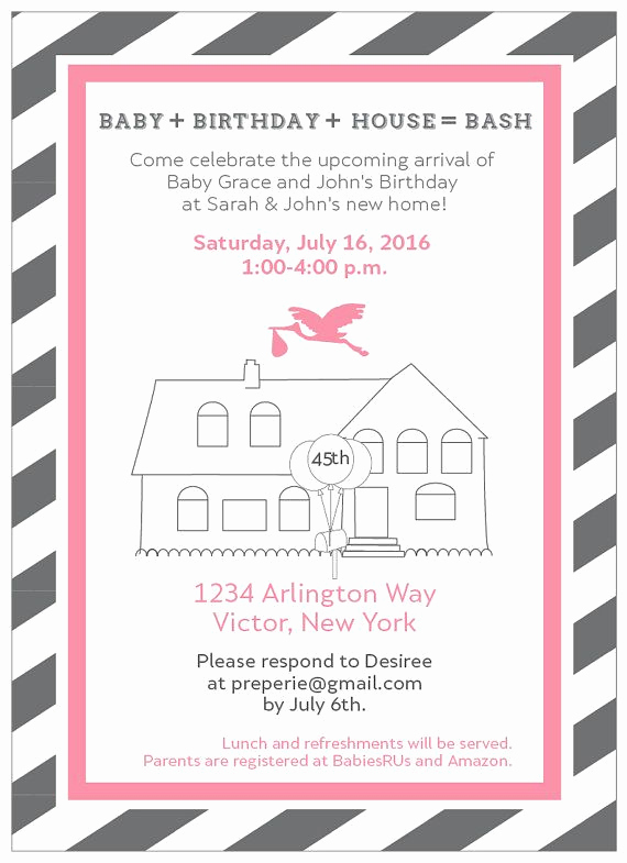Combined Birthday Party Invitation Wording Elegant Planning A Joint Housewarming and Baby Shower or Joint