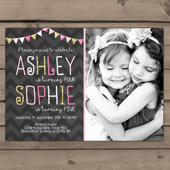 Combined Birthday Party Invitation Wording Fresh Joint Birthday Invitation Girls Joint Birthday Party