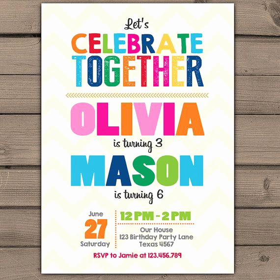Combined Birthday Party Invitation Wording Fresh the 25 Best Joint Birthday Parties Ideas On Pinterest