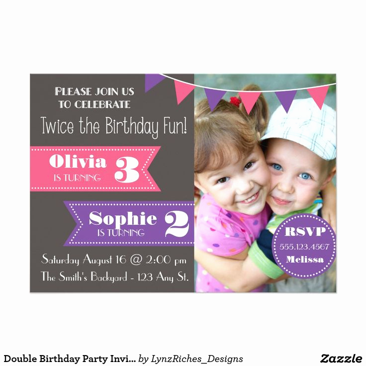 Combined Birthday Party Invitation Wording Inspirational 25 Best Ideas About Joint Birthday Parties On Pinterest