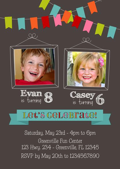 Combined Birthday Party Invitation Wording Unique Best 25 Bined Birthday Parties Ideas On Pinterest