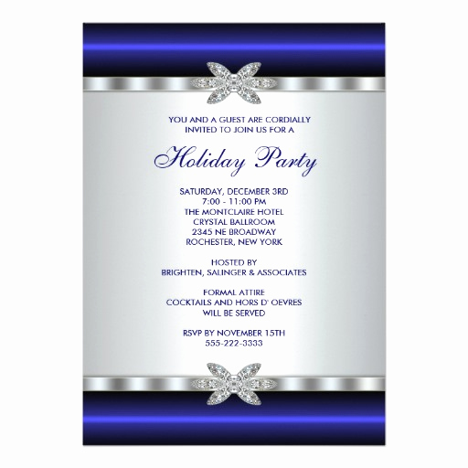 Company Holiday Party Invitation Awesome Corporate Holiday Party Invitations Blue event