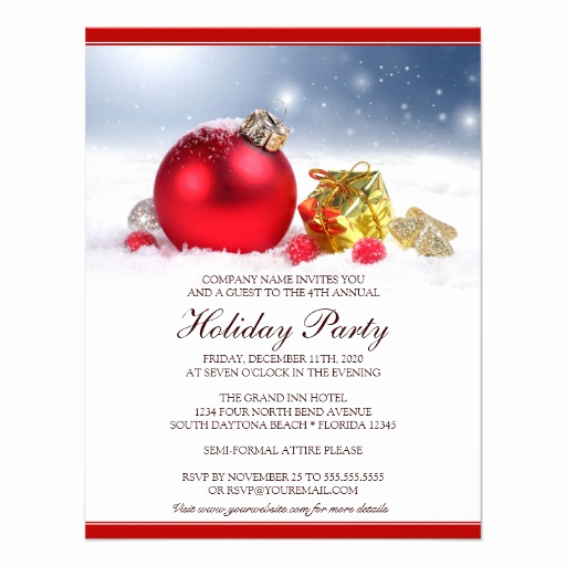 Company Holiday Party Invitation Beautiful Festive Corporate Holiday Party Invitation