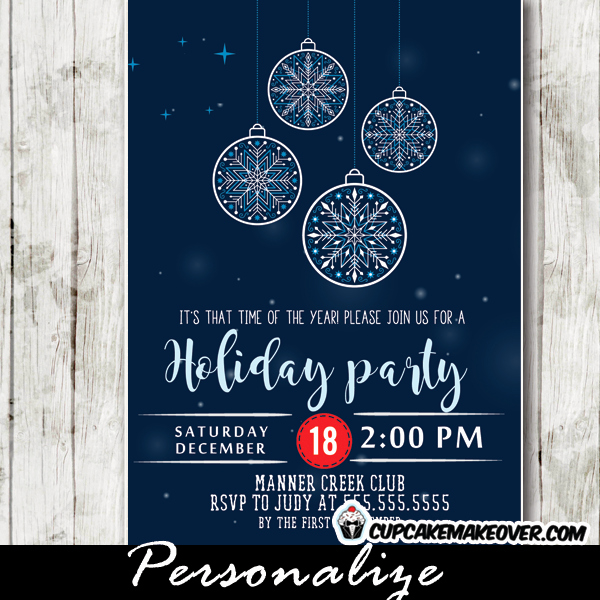 Company Holiday Party Invitation Best Of Corporate Holiday Party Invitations Snowflake ornaments
