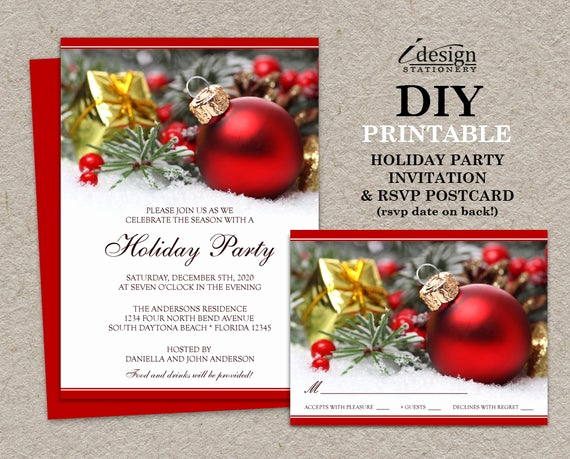 Company Holiday Party Invitation Best Of Items Similar to Festive Christmas Invitations with Rsvp