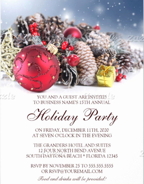 Company Holiday Party Invitation Fresh 31 Business Invitation Templates Psd Word Ai