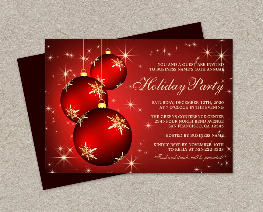 Company Holiday Party Invitation Fresh Diy Printable Corporate Holiday Party Invitations Elegant