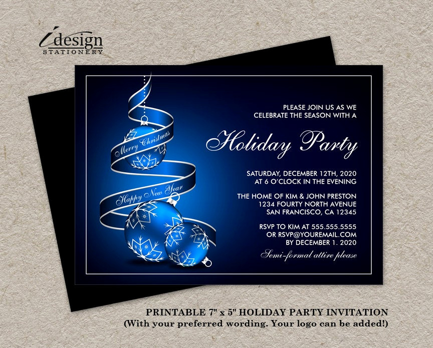 Company Holiday Party Invitation Fresh Elegant Holiday Party Invitations Printable Christmas