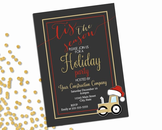 Company Holiday Party Invitation Fresh Items Similar to Pany Holiday Party Invitation