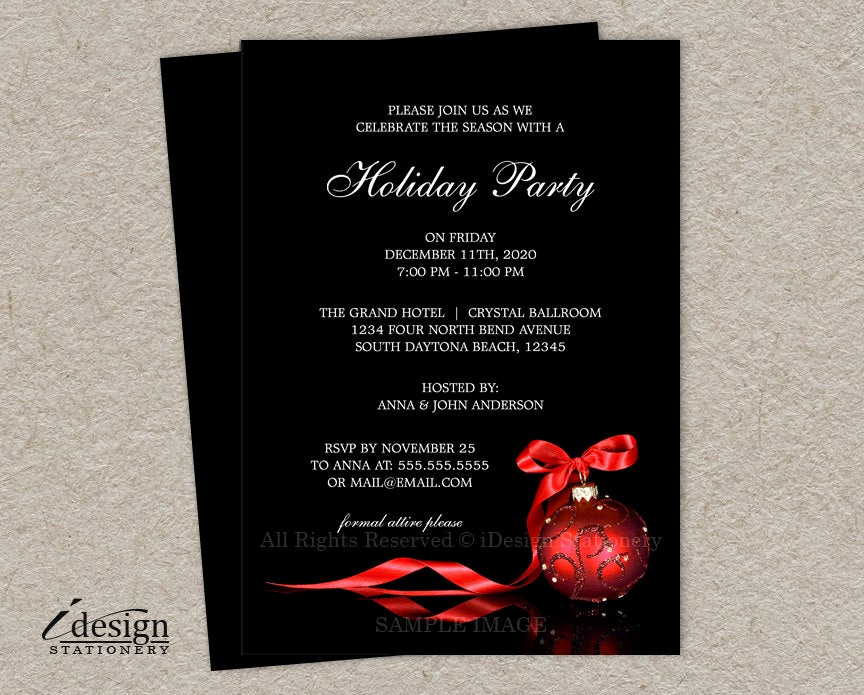 Company Holiday Party Invitation Lovely Elegant Christmas Invitations Printable Corporate Holiday
