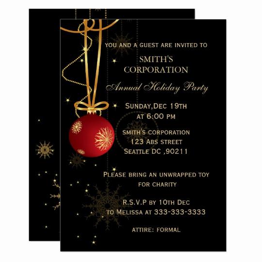 Company Holiday Party Invitation Lovely Elegant Corporate Holiday Party Invitations