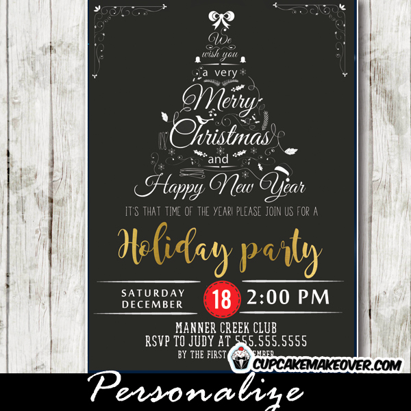 Company Holiday Party Invitation Luxury Pany Holiday Party Invitations Black White Christmas