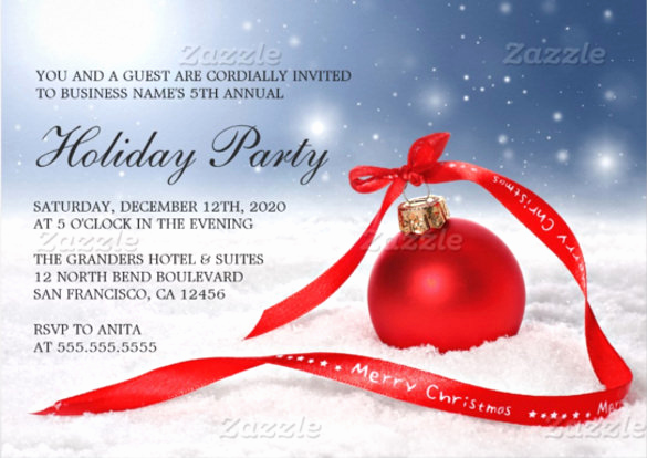 Company Holiday Party Invitation New 29 Business Invitation Templates Psd Vector Eps Ai