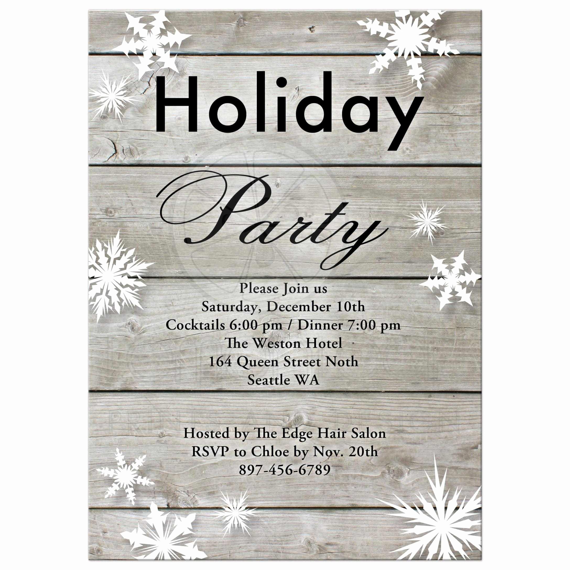 Company Holiday Party Invitation Unique Corporate Holiday Party Invitation On Barn Board
