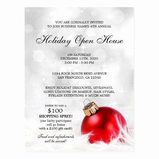 Company Open House Invitation Elegant Business Holiday Open House Postcard Invitations