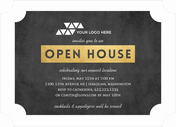 Company Open House Invitation Inspirational Faux Gold Ticket Business Open House Invitation