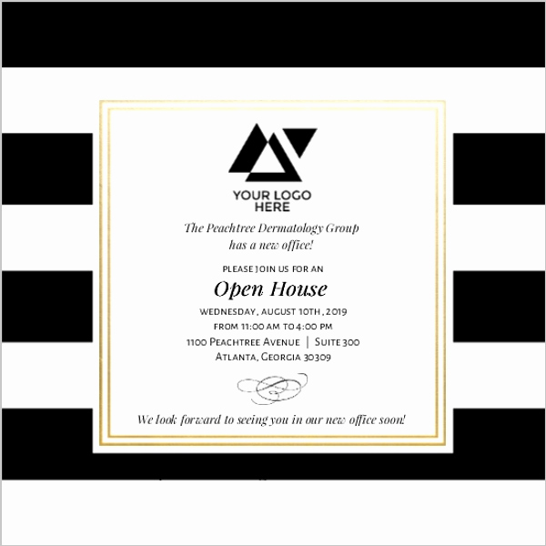 Company Open House Invitation Lovely Classic Stripe Corporate Open House Invitation