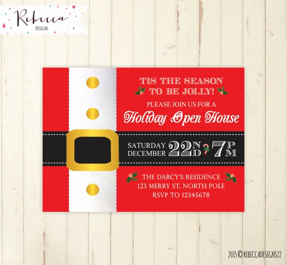 christmas open house invitation holiday