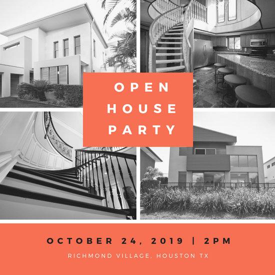 Company Open House Invitation Luxury Customize 186 Open House Invitation Templates Online Canva
