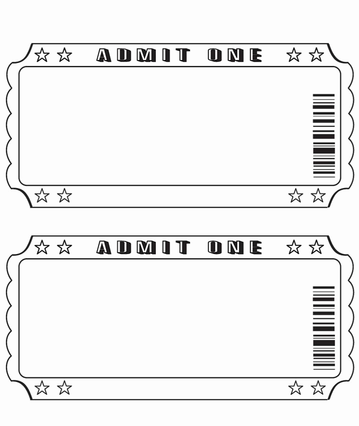 Concert Ticket Invitation Template Beautiful 25 Best Ideas About Ticket Template On Pinterest