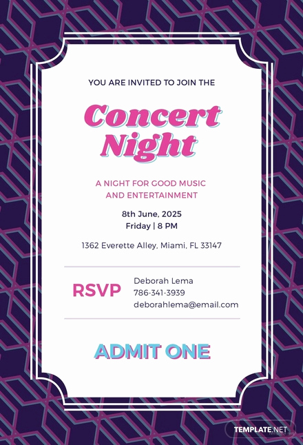 Concert Ticket Invitation Template Best Of Free Concert Ticket Invitation Template Download 344