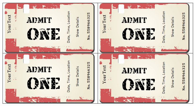 Concert Ticket Invitation Template Free Awesome 6 Ticket Templates for Word to Design Your Own Free Tickets