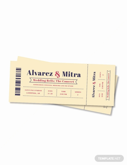 Concert Ticket Invitation Template Free Awesome 66 Ticket Invitation Templates Psd Vector Eps Ai