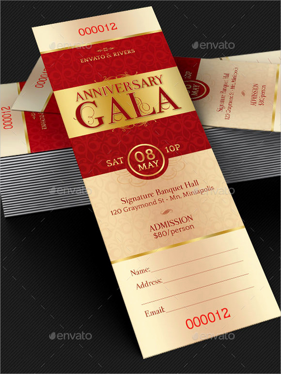 Concert Ticket Invitation Template Free Luxury 25 Sample Ticket Invitations Psd Ai Word