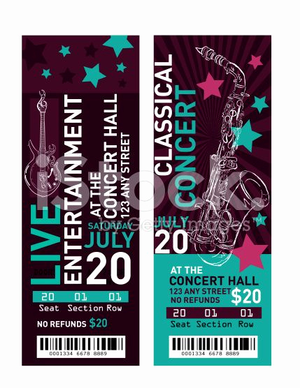 Concert Ticket Invitation Template Free Luxury 25 Unique Free Concert Tickets Ideas On Pinterest