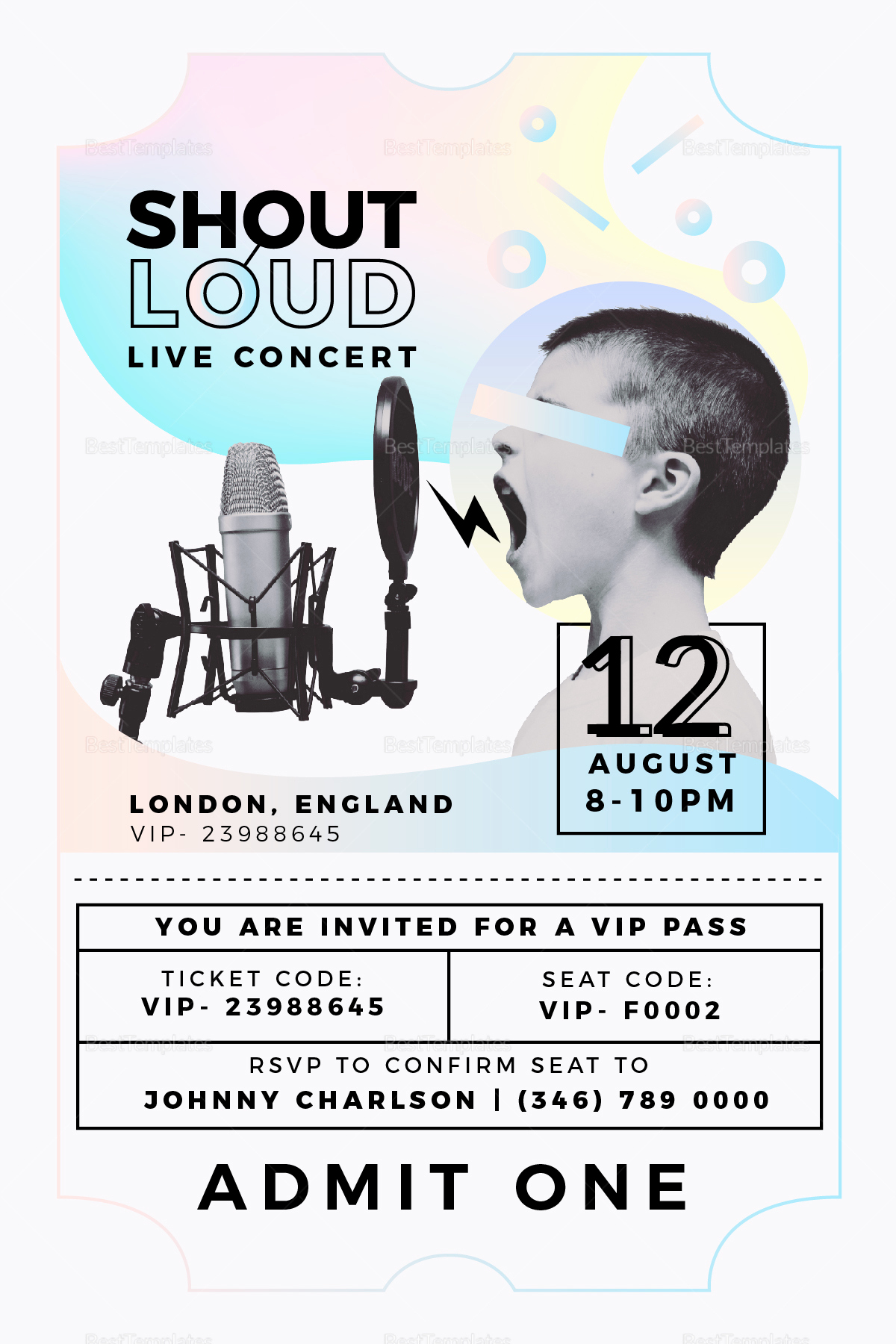 Concert Ticket Invitation Template Free Unique Live Concert Invitation Design Template In Psd Word