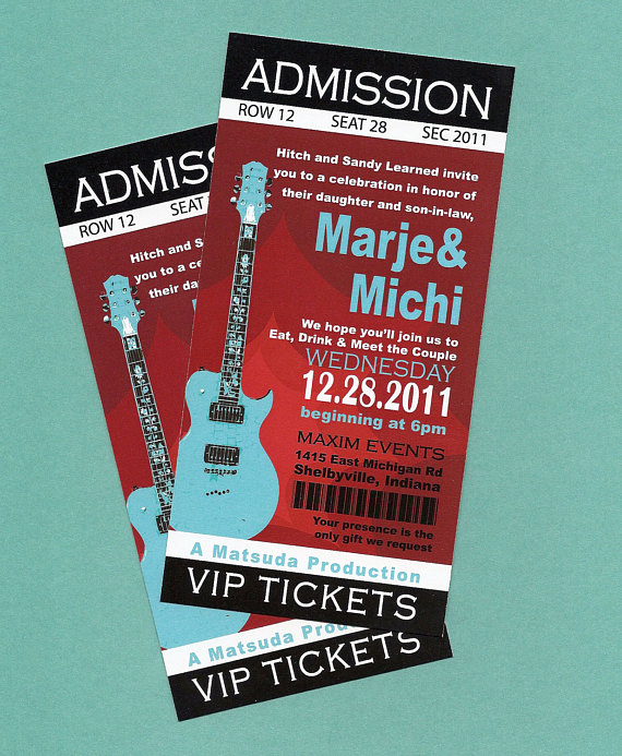 Concert Ticket Invitation Templates Elegant Items Similar to Printable Diy Concert Rock N Roll