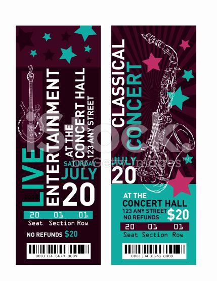 Concert Ticket Invitation Templates Inspirational 25 Unique Free Concert Tickets Ideas On Pinterest