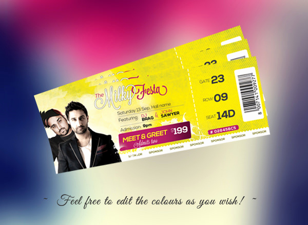 Concert Ticket Invitation Templates Lovely 66 Ticket Invitation Templates Psd Vector Eps Ai