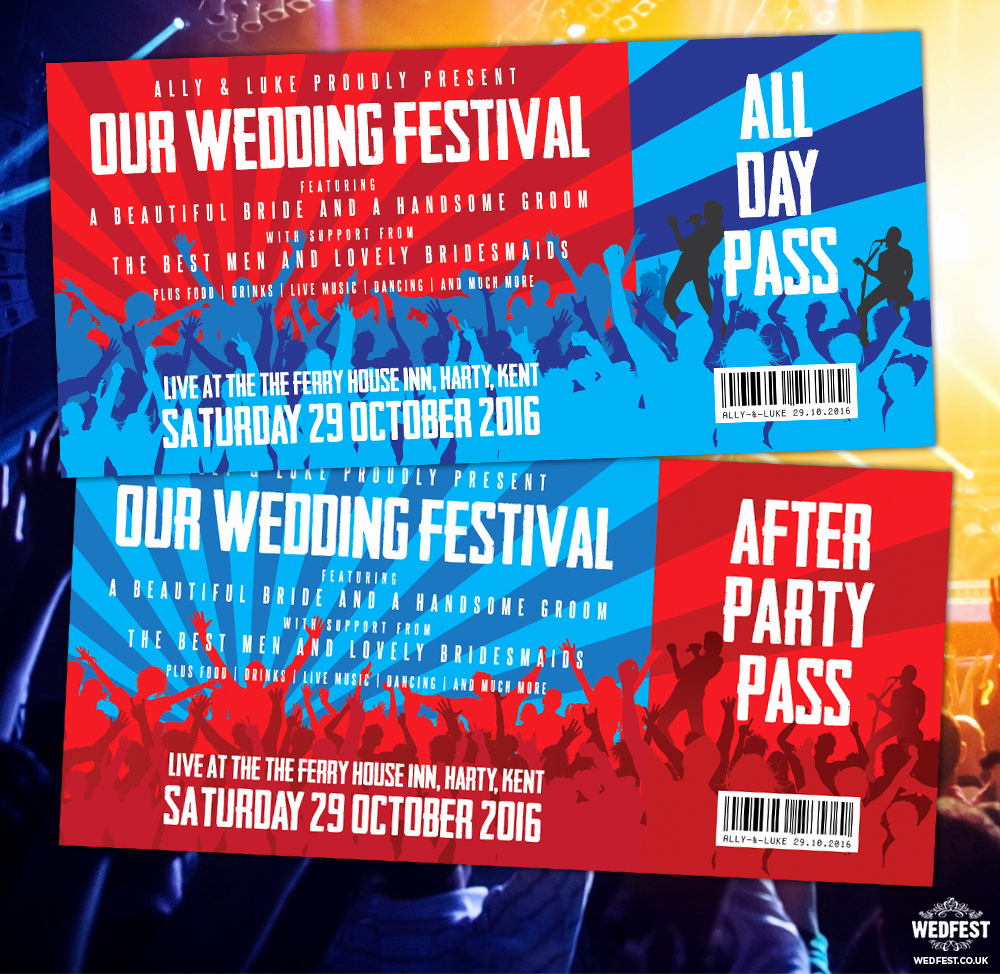Concert Ticket Wedding Invitation Awesome Concert Ticket Invitations