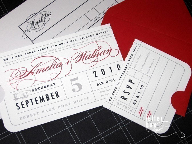 Concert Ticket Wedding Invitation Awesome Vintage Ticket Wedding Invitation