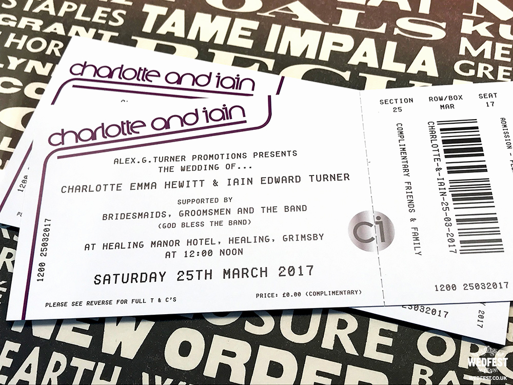 Concert Ticket Wedding Invitation Elegant Concert Ticket Invitations