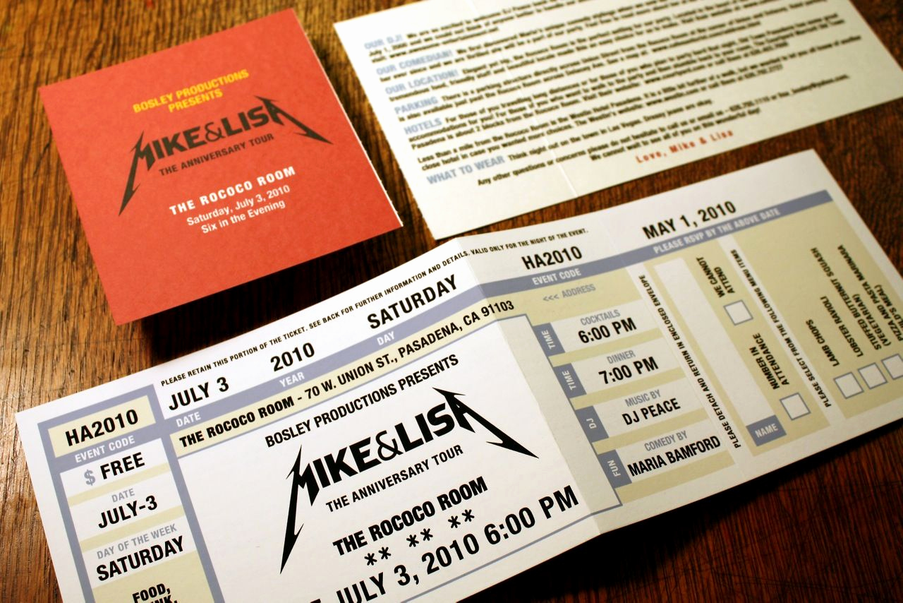 Concert Ticket Wedding Invitation Luxury Wedding Invites Ticket Stubs
