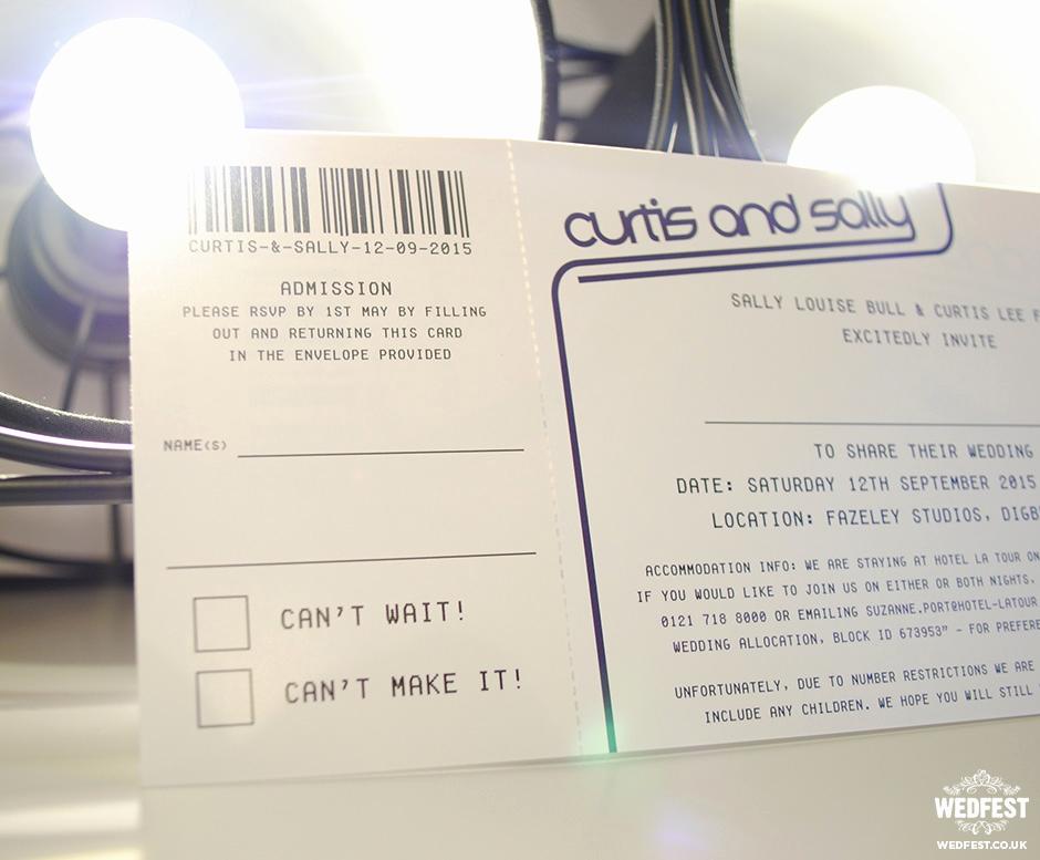 Concert Ticket Wedding Invitation New Concert & Gig Ticket Wedding Invites