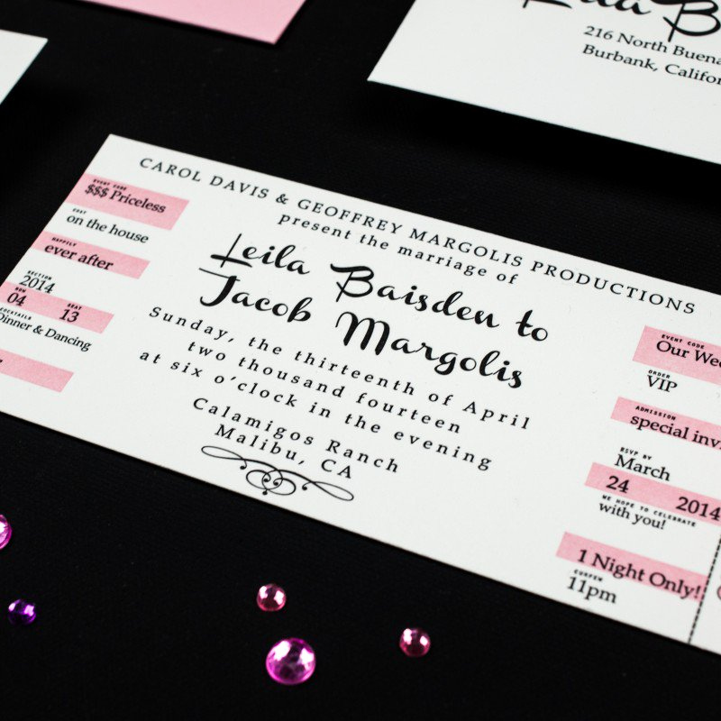 Concert Ticket Wedding Invitation New Concert Ticket Wedding Invitations
