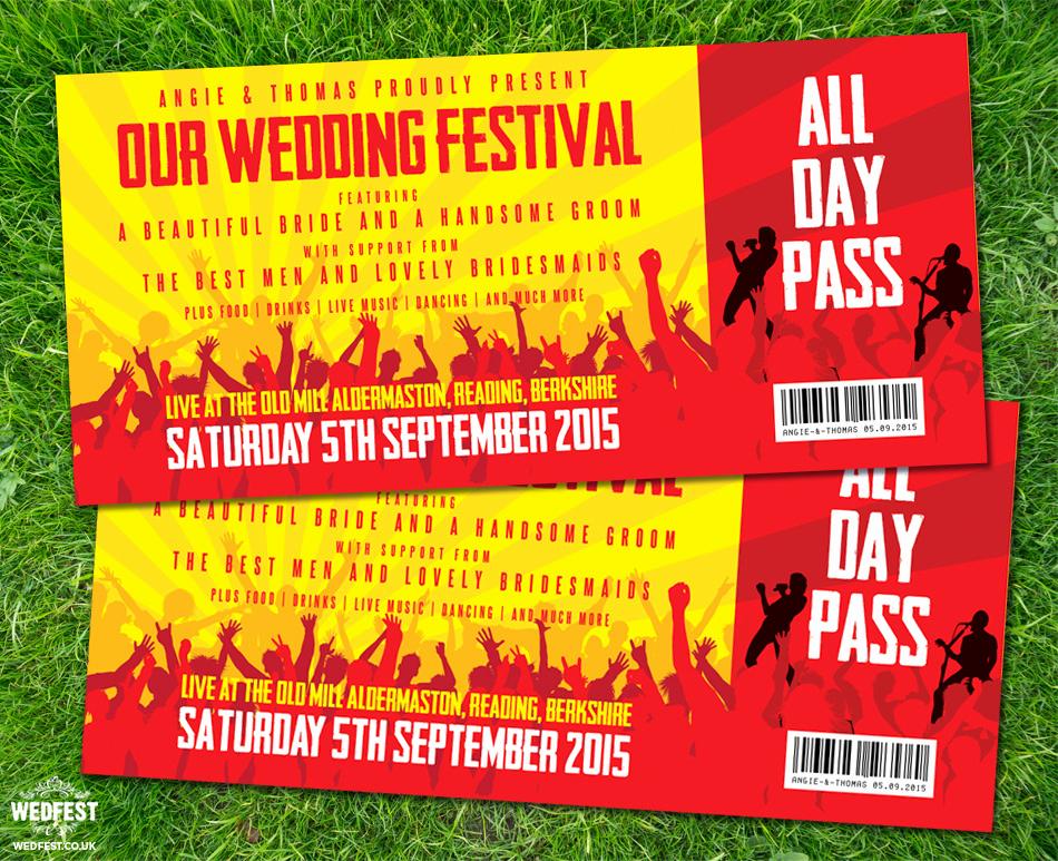 Concert Ticket Wedding Invitation Unique Concert Ticket Wedding Invitations