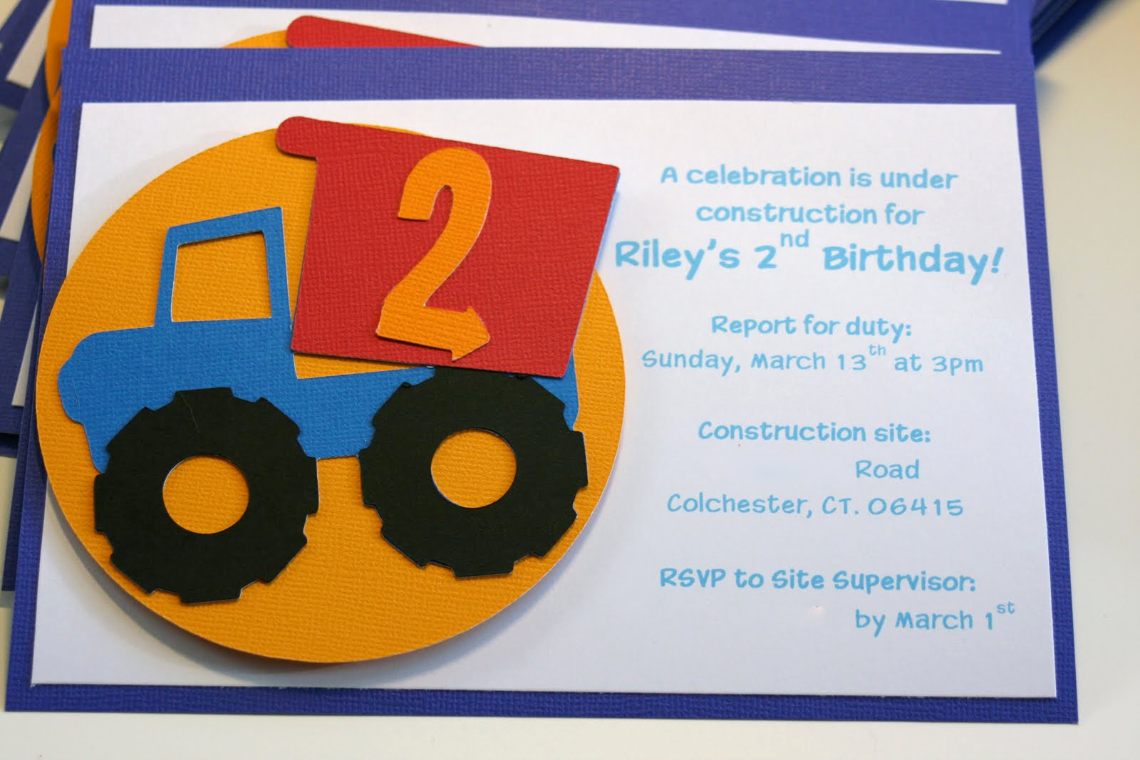 Construction Baby Shower Invitation Templates Beautiful Construction Truck Birthday Invitations
