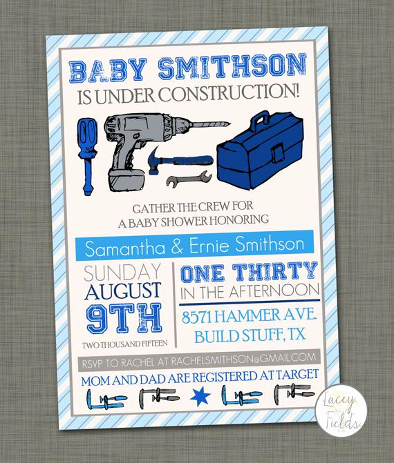 Construction Baby Shower Invitation Templates Fresh Items Similar to Baby Under Construction Invitation