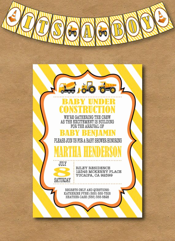 Construction Baby Shower Invitation Templates Unique Best 25 Construction Baby Showers Ideas On Pinterest