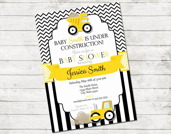 Construction Baby Shower Invitation Templates Unique Construction Baby Shower Invitation Under Construction