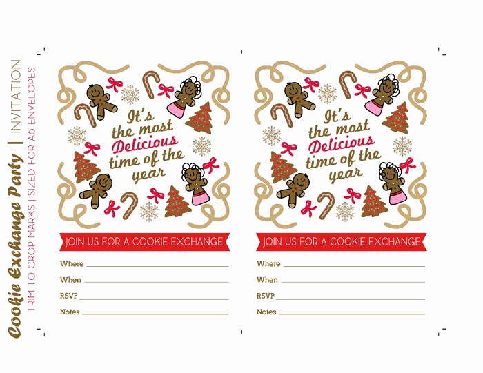 Cookie Exchange Invitation Templates Awesome Host A Christmas Cookie Exchange Party Free Printables