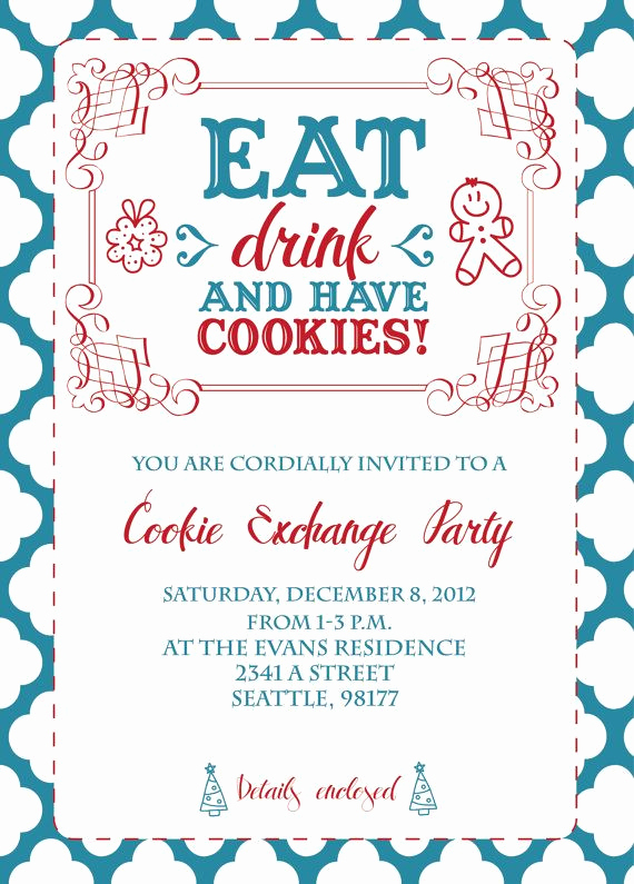 Cookie Exchange Invitation Templates Beautiful 211 Best Cookie Exchange Ideas Images On Pinterest