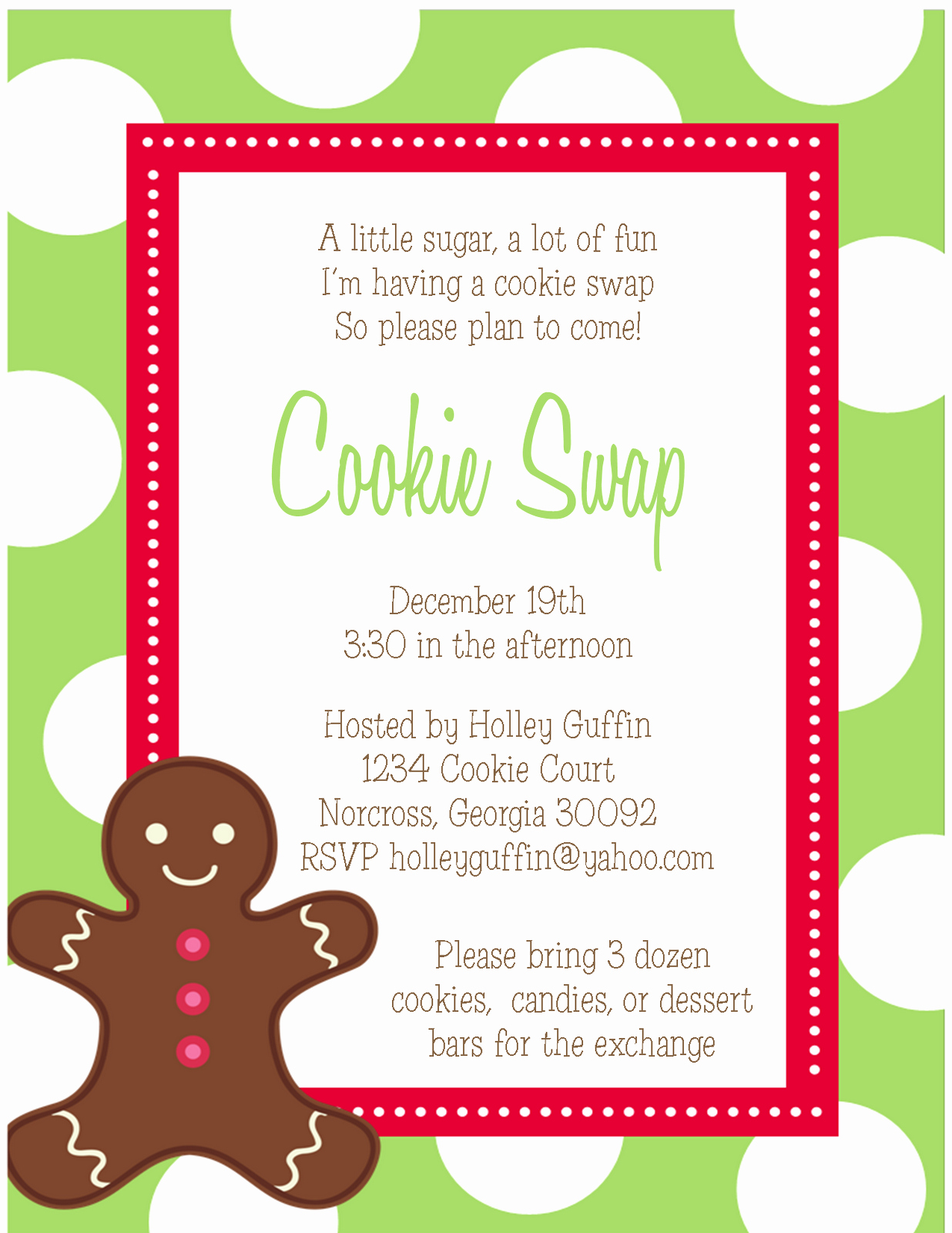 Cookie Exchange Invitation Templates Fresh the Sweet Peach Paperie Cookie Exchange Invitations and