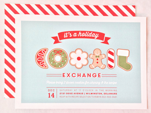 Cookie Exchange Invitation Templates Inspirational Holiday Cookie Exchange Party Package