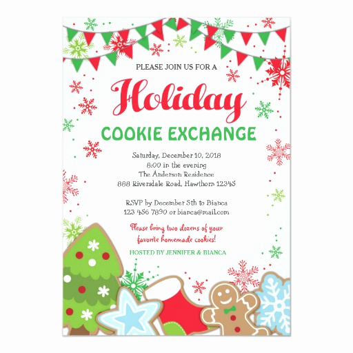 Cookie Exchange Invitation Templates Lovely Holiday Cookie Exchange Invitation Cookie Swap